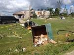 Storm damage in Teviotdale, Ont., Monday, Aug. 3, 2015. (Nadia Matos / CTV News)