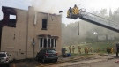 Firefighters respond to a blaze in Owen Sound, Ont. on Monday, Aug. 10, 2015. (Scott Miller / CTV London)