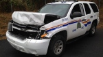 A man attempted to avoid an impaired driving checkpoint before leading police on a car chase on Salt Spring Island early Saturday morning. (Handout)