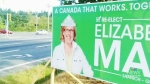 May signs targeted by vandals on Vancouver Island