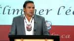 Assembly of First Nations National Chief Perry Bellegarde outlines the organizations priorities for the federal election in Ottawa, Wednesday, Sept. 2, 2015.