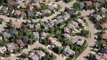 Aerial views of housing in Calgary, Alta., on June 22, 2013. (THE CANADIAN PRESS/Jonathan Hayward)