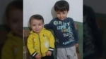 Galib Kurdi, right, his brother Alan Kurdi, and their mother, drowned after their boat capsized off the coast of Turkey.