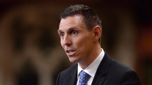 Then Conservative MP Patrick Brown gives his farewell speech in the House of Commons in Ottawa, Wednesday, May 13, 2015. Brown resigned in order to run for leadership of the Ontario Progressive Conservatives. (Sean Kilpatrick / THE CANADIAN PRESS)