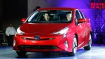 Toyota unveils the latest version of the Prius at an event in Las Vegas on Tuesday, Sept. 8, 2015. (AP /John Locher)