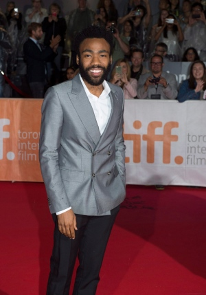 Donald Glover arrives on the red carpet at the gala for the film 'The Martian' at the 2015 Toronto International Film Festival on Friday, Sept. 11, 2015. (Frank Gunn / THE CANADIAN PRESS)