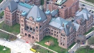 Queen's Park is seen from the CTV Toronto chopper.