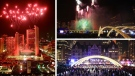 The Cavalcade of Lights is seen in a composite photo from the City of Toronto.