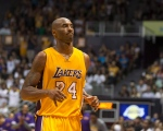 Los Angeles Lakers guard Kobe Bryant (24) is seen on the court during the second half of an NBA preseason basketball game against the Utah Jazz on Oct. 6, 2015, in Honolulu. (Marco Garcia / AP Photo)