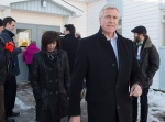 Dwight Ball, Newfoundland and Labrador Liberal leader, heads from the polling station after voting in the provincial election in Deer Lake, N.L. on Monday, Nov. 30, 2015. (Andrew Vaughan / THE CANADIAN PRESS)
