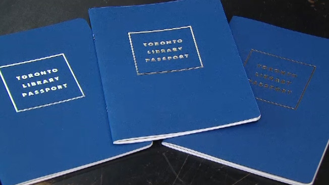 The covers of three Toronto Library Passports are shown.