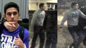 Nick Bagherzadeh, 20, is seen in these provided images. (York Regional Police)