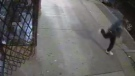 A photo captured by a surveillance camera show a sidewalk in Toronto's Chinatown.