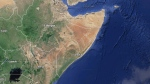 In this Google map, Somalia is pictured.