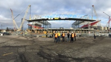 Roof over south concourse of BMO Field
