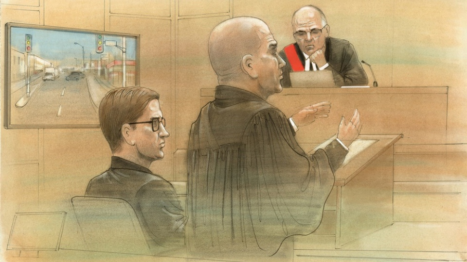 Aleksey Aleksev appears in a Toronto courtroom on Monday, March 7, 2016. (John Mantha / CTV Toronto)