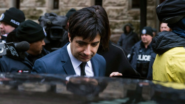 Jian Ghomeshi leaves court in Toronto on Thursday, March 24, 2016. Ghomeshi was acquitted on all charges of sexual assault and choking following a trial that sparked a nationwide debate on how the justice system treats victims. THE CANADIAN PRESS/Christopher Katsarov
