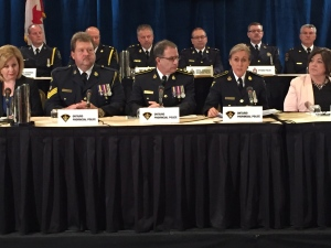 Police provide an update on a province-wide child exploitation investigation. (Kyle Surowicz/ CP24)