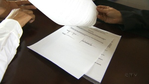 Marlene Leid signed this power of attorney document that includes a do not resuscitate order and gives her daughter Caron the right to decided life and death.
