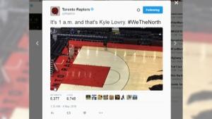 Kyle Lowry burns the midnight oil