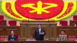 North Korean leader Kim Jong Un addresses the congress in Pyongyang, North Korea, Friday May 6, 2016. (KRT via AP)