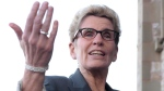 Ontario Premier Kathleen Wynne speaks to reporters as she arrives at the First Ministers meeting in Ottawa on Monday, Nov. 23, 2015. (Sean Kilpatrick/ THE CANADIAN PRESS)