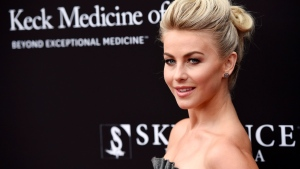 Dancer/actress Julianne Hough poses at the Rebels With A Cause Gala at The Barker Hangar on Wednesday, May 11, 2016, in Santa Monica, Calif. (Photo by Chris Pizzello/Invision/AP)