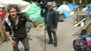 CTV News cameraman attacked at tent city