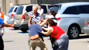 Extended: Brawl breaks out Mississauga Costco park
