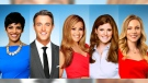 The 'Your Morning' team (from L to R): Anne-Marie Mediwake, Ben Mulroney, Melissa Grelo, Lindsey Deluce and Kelsey McEwen.