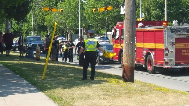 Roads were closed after a teenage boy was struck in Mississauga. (Jorge Costa)