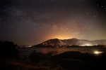Embers burn in the mountains as firefighters continue to battle a wildfire in the area Friday, June 24, 2016, near Lake Isabella, Calif. (AP / Jae C. Hong)