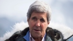 Secretary of State John Kerry speaks during a tour the Jakobshavn Glacier and the Ilulissat Icefjord, located near the Arctic Circle, Friday, June 17, 2016, in Ilulissat, Greenland. (AP / Evan Vucci, Pool)