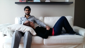 Hasnain Mirza (left), founder of cuddleme.ca. (Hasnain Mirza)