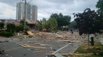 The aftermath of a home explosion on Hickory Drive in Mississauga is pictured. (Zed Zidaric /Submitted)