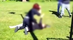 Violent struggle between teens caught on cam