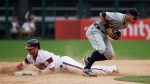 Chicago White Sox's J.B. Shuck steals second base as Detroit Tigers second baseman Ian Kinsler catches the ball during the ninth inning of a baseball game Sunday, July 24, 2016, in Chicago. (AP / Nam Y. Huh)