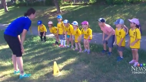 A toddler 'sports camp' had its permit revoked from the Lynndale Parkette in Toronto due to noise complaints. (CTV Toronto)