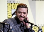 Justin Timberlake attends the 'Trolls' panel on day 1 of Comic-Con International on Thursday, July 21, 2016, in San Diego. (Chris Pizzello / Invision / AP)