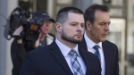 Const. James Forcillo leaves court in Toronto on Monday, May 16 , 2016, after a suspension in his sentencing hearing. A Toronto police officer convicted of attempted murder in the shooting death of a troubled teen on an empty streetcar is expected to learn his fate today. THE CANADIAN PRESS/Chris Young