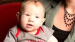 Nine-month-old Austin Wright died in hospital in April after suffering blunt force trauma while in the care of his mother's boyfriend in Lethbridge.