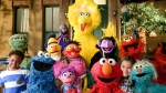 "This image released by the Sesame Workshop shows the cast of ""Sesame Street."" (Zach Hyman/Sesame Workshop via AP)"