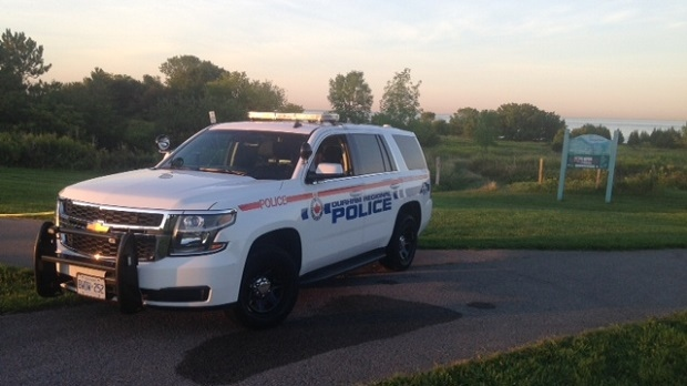 A mortar round was found in Intrepid Park, near the Oshawa/Whitby border. (Cam Woolley/CP24)
