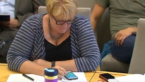 Trine Skei Grande, the leader of Norway's Liberal Party, was caught on camera playing Pokemon Go during a meeting of the Standing Committee on Foreign Affairs and Defence on Wednesday. (Storyful News via YouTube)