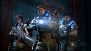 This image released by Microsoft shows a scene from 'Gears of War 4.' Composer Ramin Djawadi crafted the score for the game. (Microsoft via AP)