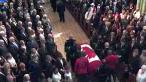 Belanger's casket enters Notre-Dame Cathedral Basilica in Ottawa