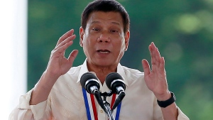 Philippine President Rodrigo Duterte is seen on Aug. 29, 2016. (AP / Bullit Marquez)