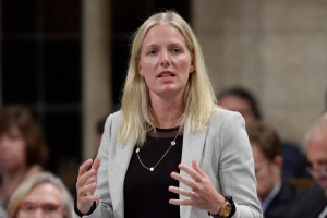 Environment Minister Catherine McKenna answers a question during Question Period in the House of Commons in Ottawa on Monday, September 19, 2016. (THE CANADIAN PRESS/Adrian Wyld)