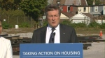 Mayor Tory announces that a vacant lot on Lansdowne Avenue is being set aside for future affordable housing development.
