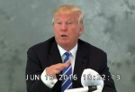 In this image from video provided via CBS News, Donald Trump speaks during a videotaped deposition on June 16, 2016. (CBS News via AP)